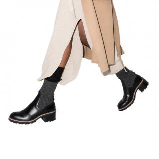 Chloe Black Franne 35 Leather Sock Boots