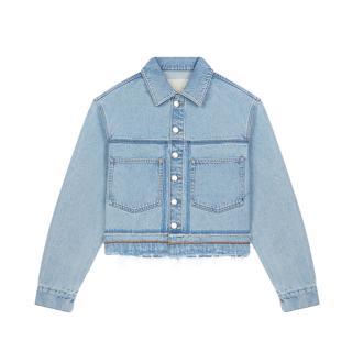 Maje Berga Short oversize denim jacket