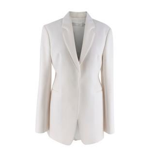 Victoria Beckham Ivory White Masculine Fit Blazer