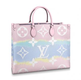 Louis Vuitton Pastel Escale Monogram Onthego w/ Escale Charm & Bandeau