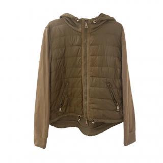 Moncler Khaki Lightweight Hooded Jacket
