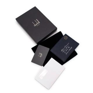 NR Dunhill Navy Boston Leather Envelope Jotter