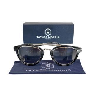 Taylor Morris Black Marble Style Rollright Aviator Sunglasses