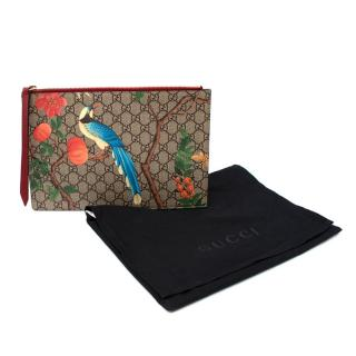Gucci Supreme Monogram Tian Zip Pouch