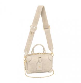 Louis Vuitton Creme Monogram Empreinte Petite Malle Souple Bag