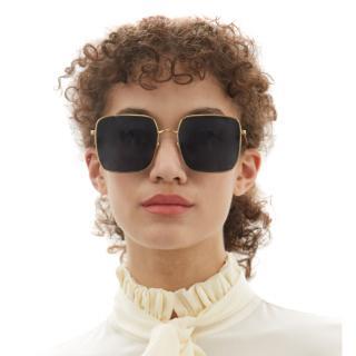 Dior DiorStellaire Square Gold-Tone Metal Sunglasses