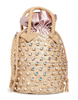 Le Nine Nina Crystal Embellished Top Handle Bag