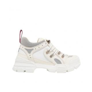 Gucci Flashtrek logo-embossed leather, suede and mesh sneakers