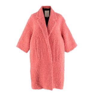 Roksanda Sorbet Pink Boucle Wool Coat