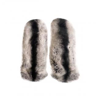 Joseph Rex Rabbit Fur Mittens - Size 7