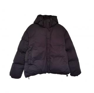 7 For All Mankind Black Thermalpuff Hooded Jacket