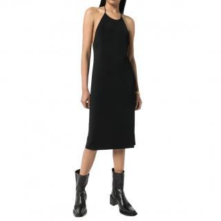 Bottega Veneta Black Backless Halterneck Jersey Dress