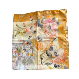 Dolce & Gabbana Multicolor Floral Print Silk Scarf
