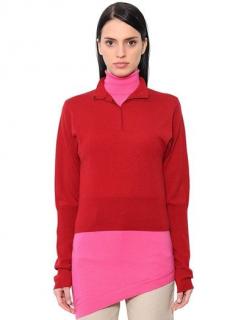 JW Anderson Double Layer Merino Wool Knit Shirt