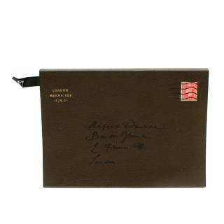 Dunhill Olive Green Boston Leather A5 Notebook