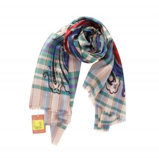 Etro Wool Tartan Scarf 170 x 70cm