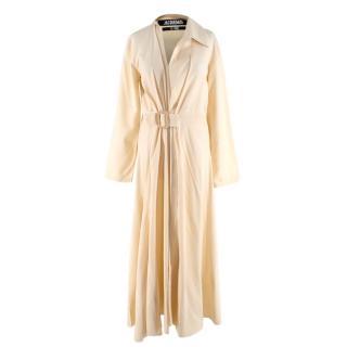 Jacquemus Pastel Yellow Belted Asymmetric Dress