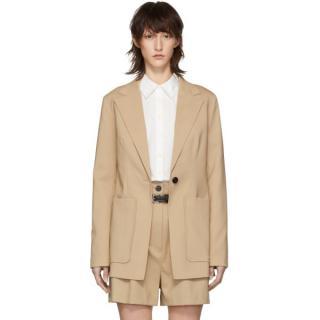 3.1 Phillip Lim Beige Wool Tailored Blazer