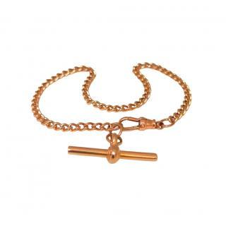 Bespoke 9ct Rose Gold T-Bar Chain Bracelet
