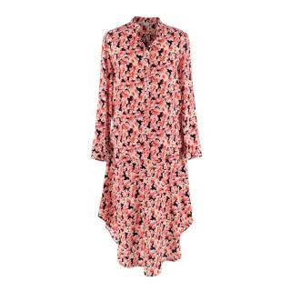 Stella McCartney Pink Floral Print Blouse & Skirt Silk Set