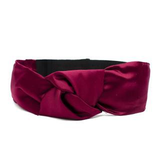 Prada Burgundy Silk Twist Waist Belt
