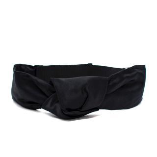 Prada Black Silk Twist Waist Belt