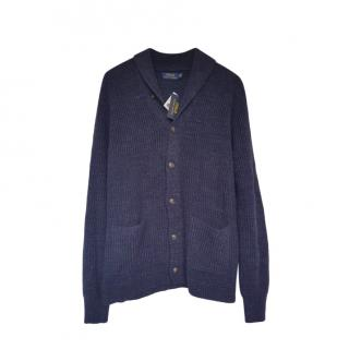 Polo Ralph Lauren Blue Shawl Collar Cardigan
