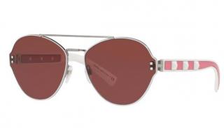 Valentino VA2025 Pink Rockstud Aviator Sunglasses