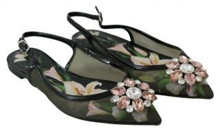 Dolce & Gabbana embellished floral sandals