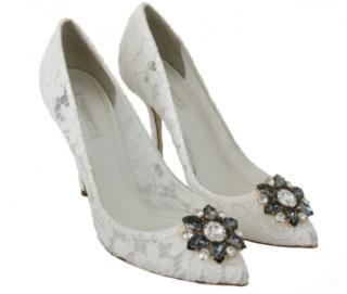 Dolce & Gabbana White Lace Belucci Pumps