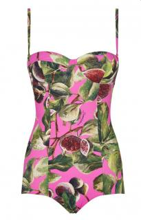 Dolce & Gabbana Fig Print Swimsuit
