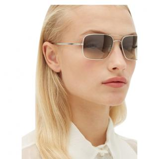 Oliver Peoples Grey X Oliver Peoples Victory La Square Sunglasses