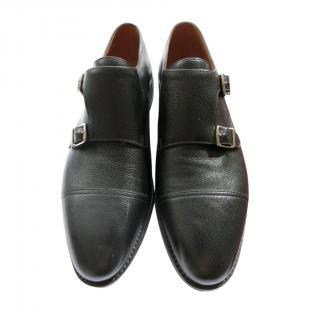 John Lobb Black Leather William Double Monks