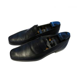 J.M.Weston Black Leather Driving Loafers
