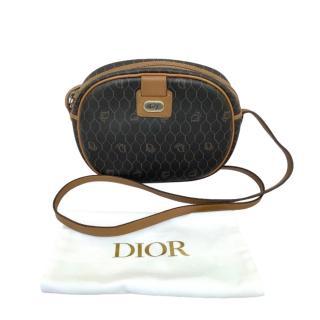 Dior Vintage Honeycomb Coated Canvas Crossbody Bag