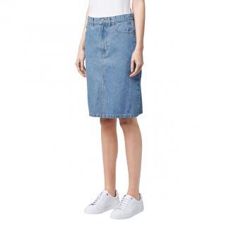 Mackintosh Washed Blue Split Denim Skirt