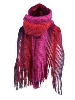 Missoni Pink, Purple Tones Metallic Knit Scarf