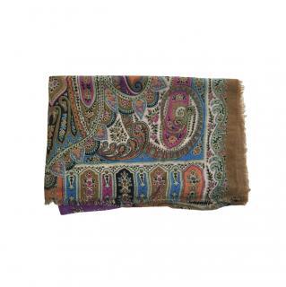 Etro Silk & Cashmere paisley scarf
