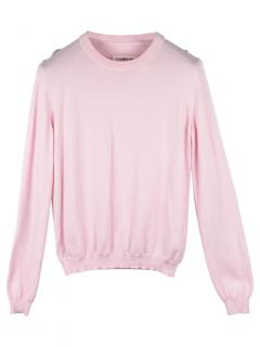 Maison Margiela Pink Sweatshirt with Suede Elbow Patches