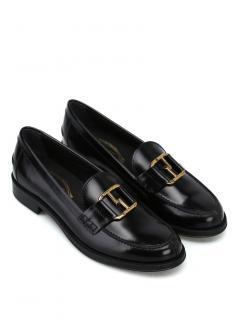 Tod's Black Double T Horsebit Loafers