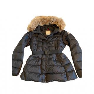 Moncler Black Gene Hooded Down Coat