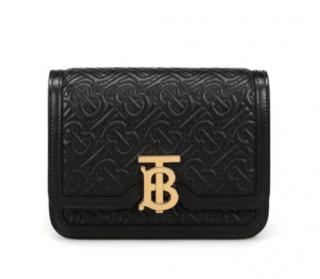 Burberry Black TB Monogram Embossed Belt Bag