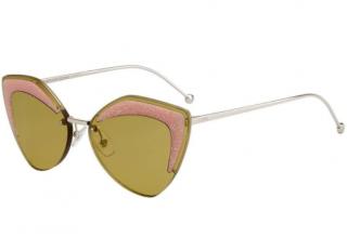 Fendi FF 0355/S Ochre Glitter Cat-Eye Sunglasses