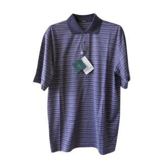 Marbas Striped Cotton Polo Shirt