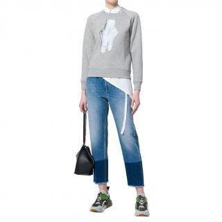 Alexa Chung Grey Ballerina Pointe Print Sweatshirt