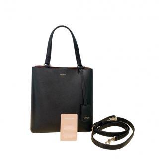 Oroton Black Leather Anouk Tote Bag