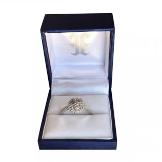 Ehthele 18ct White Gold Pave Diamond Ring