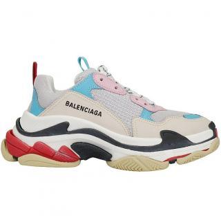 Balenciaga Mulitcoloured Mesh & Leather Triple S Sneakers