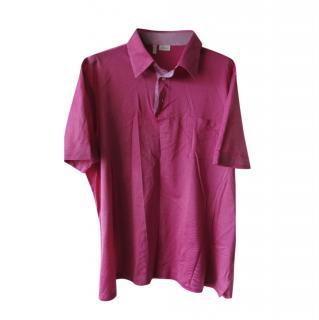 Brioni Pink Piquet Cotton Polo Shirt