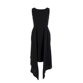 Chanel Black Silk Layered Sleeveless Dress